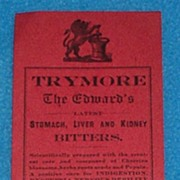 Trymore Bitters Bottle Label
