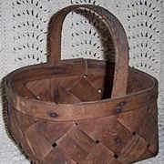 Primitive Wood Berry Basket