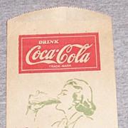 Vintage Coca Cola Dry Server Woman Drinking
