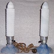 Art Deco Blue Houzex Bullet Lamps