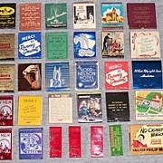 29 Vintage Advertising Match Books
