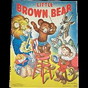 1937 Little Brown Bear Children's Book by Merrill Publishing