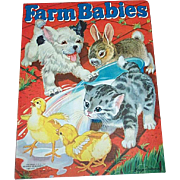 1940 Farm Babies Book Merrill Publishing Co.