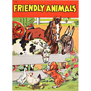1941 Friendly Animals Children's Book