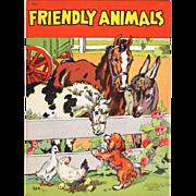 1941 Friendly Animals Children's Book