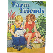 1945 Farm Friends Children's Book