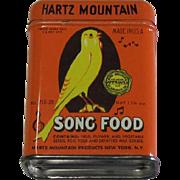 Hartz Mountain Song Food Tin