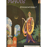 Art Deco Sept 1920 Vivaudou Mavis Perfume Ad by Fred Packer