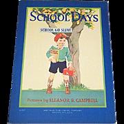 1930 School Days Children's Book Whitman