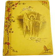 Antique Victorian to Edwardian In the Sweet By and By Illustrated Poetry Song Hymn Book