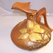 Roseville Art Pottery Ewer - Clematis - 1944