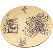 Blue and White Victorian Aesthetic Plate - Geese - French Retailer