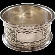 Edwardian Sterling Silver Napkin Ring - English, 1904