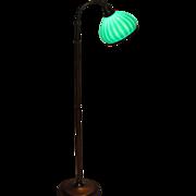 Emeralite Striped Shade Floor Lamp