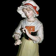 """Lovely Large R. Bloch Porcelain of Paris, """"Lorraine"""" c 1939"""