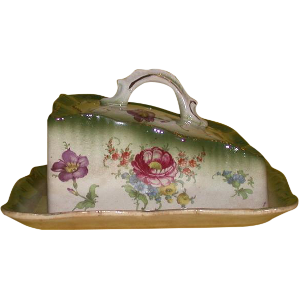 Lovely Vintage Cheese Tray and Dome, England - Early 20th Century