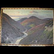 Magnificent Large Original Oil on Canvas Landscape, Signed N. Borch J.