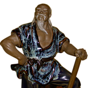 Wonderful Chinese Ceramic Sculpture of a Working Man,  Marvelous Expression!