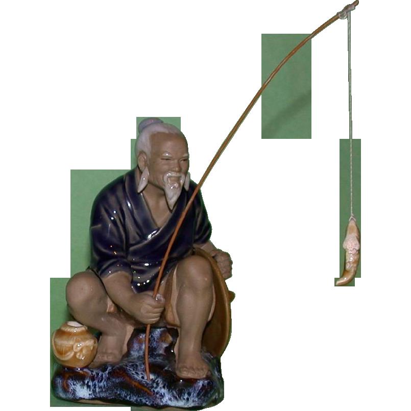 Asian Fisherman Mudman,  Wonderful Expression!