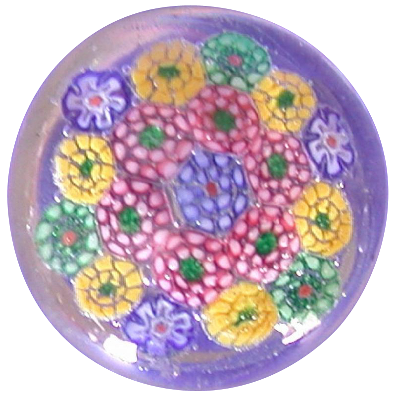 Lift Your Spirits With This Delightful And Colorful Millefiori Art Glass Paperweight!