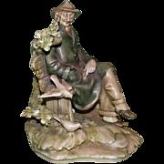 """Borsato - """"The Boulevardier"""" - Jaunty and Personable Multi-Figural Porcelain Sculpture"""