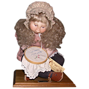 "REDUCED Precious Mixed Media Soft Sculpture ""Mommy's Surprise"", by Sara Baker, Wonderful For ..."