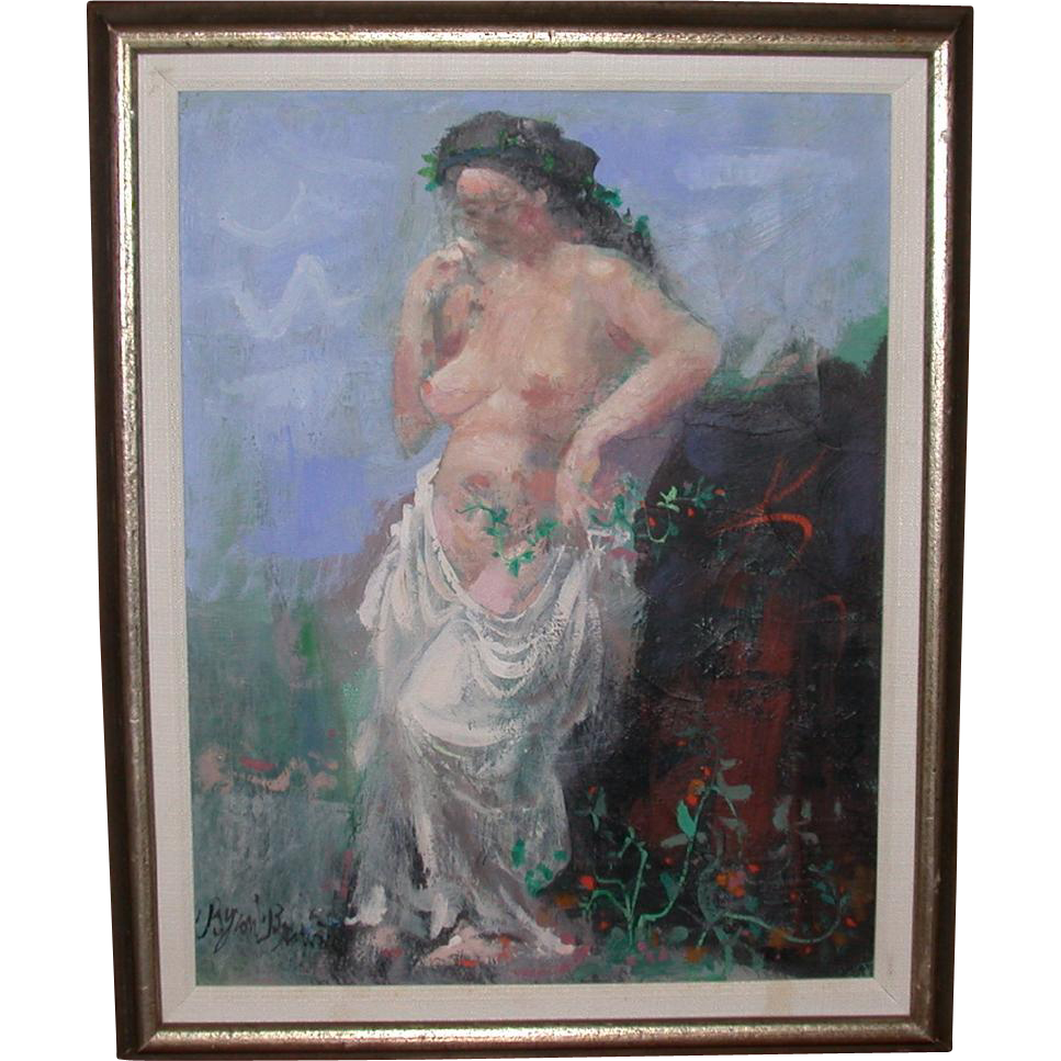 """Byron Browne (1907-1961) - Well-listed Artist - Original Oil On Canvas - """"Muse"""""""