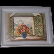 """Original Oil On Canvas - """"Alpine Bouquet"""" - Signed M. Haterich"""