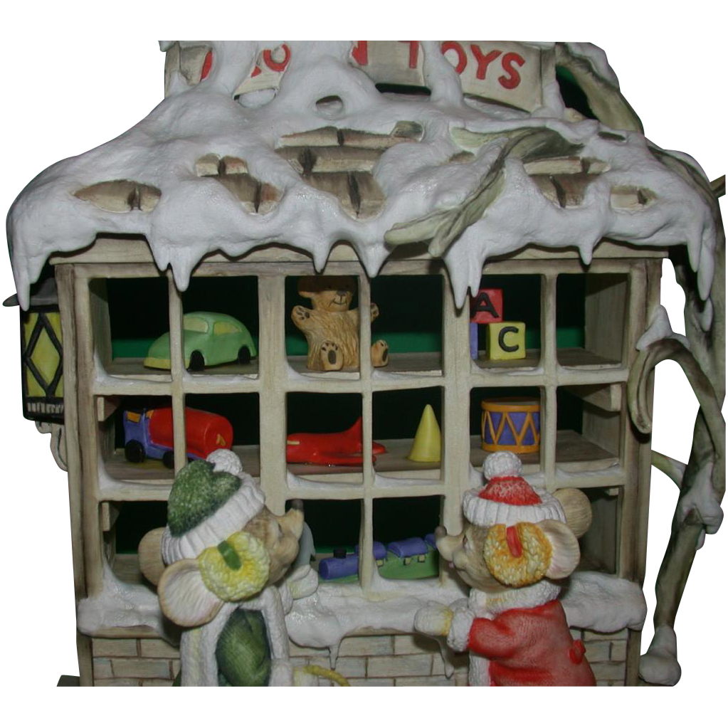 """Connoisseur Bisque Porcelain - """"Toy Shop"""" - c. 1991"""