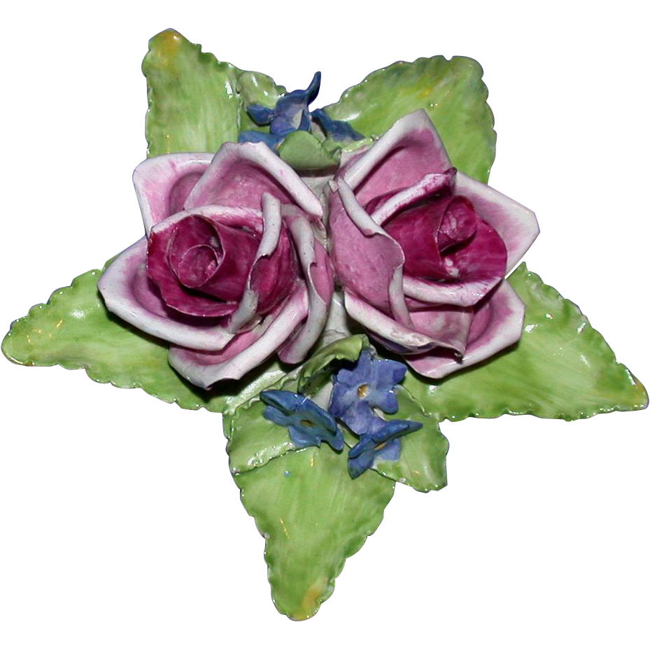 Forever Roses For The One You Love!   Beautiful Porcelain Floral Display -