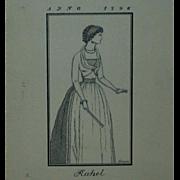 "Original Ink Drawing  ""Rahel Varnhagen"" by Erich M. Simon,  1910"