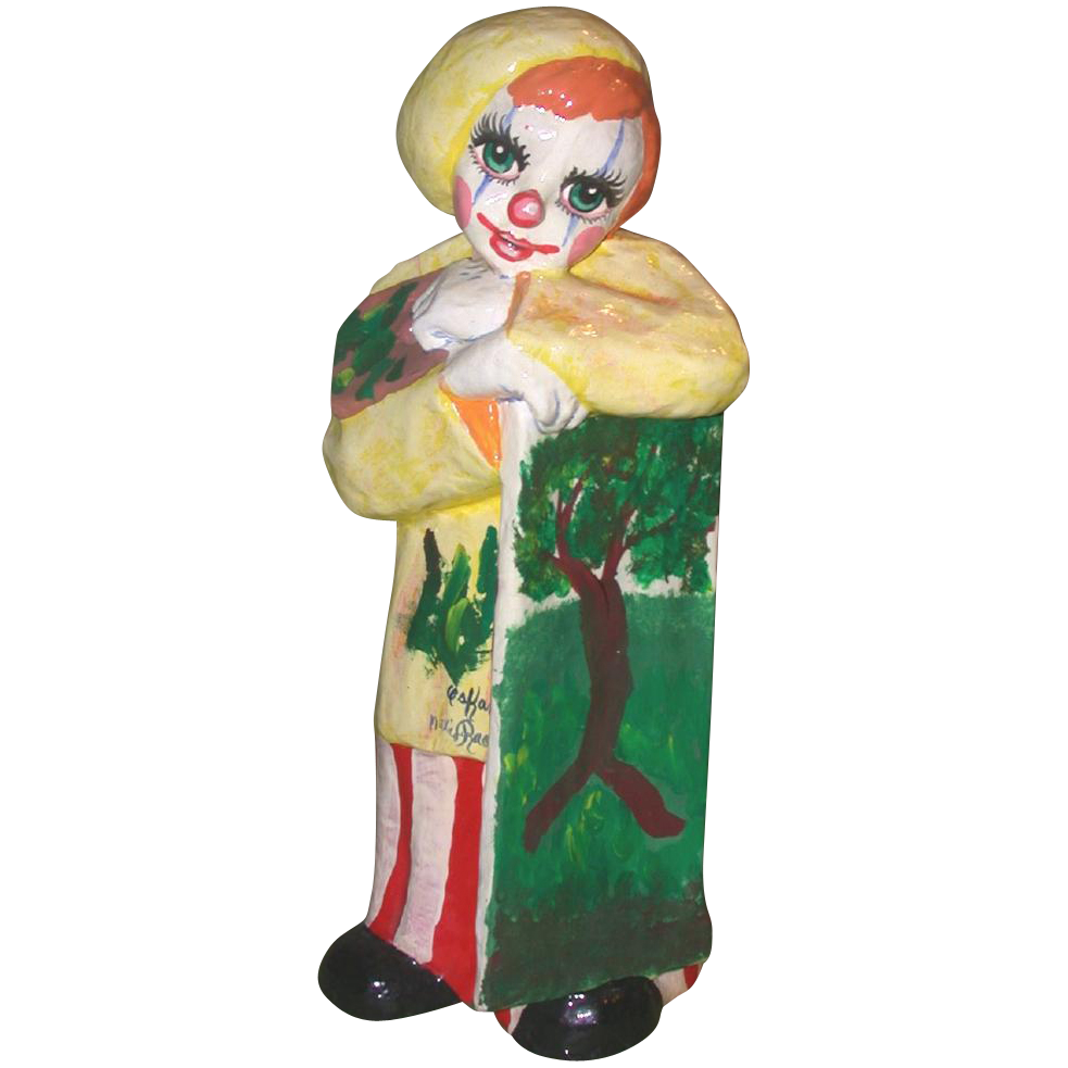 "Big Happy ""Clown Artist"" - Signed by Artist Oskar Raoul, Mexico"