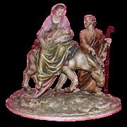 "Borsato - ""Flight Into Egypt"" - Wonderful Multi-Figural Sculpture"