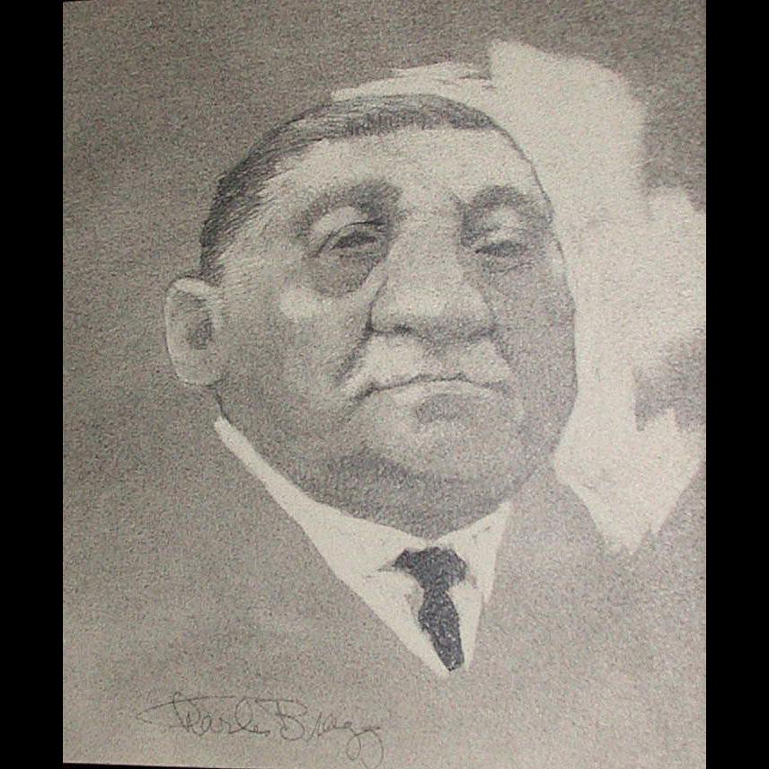 Charles Bragg - Original Drawing - Portrait - c 1972