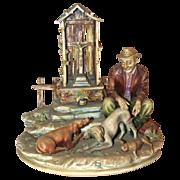 "Borsato - Multi-Figural Porcelain Sculpture - ""Canine Casualty"""