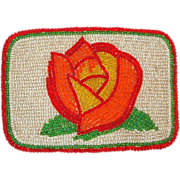 LARRY HAGMAN'S ESTATE - Native American Beaded Belt Buckle Of A Flower-