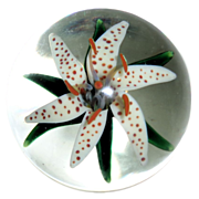 STEVEN LUNDBERG -Personally Signed Flower Paperweight, Circa 1988