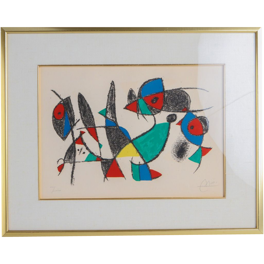"""Joan Miro (1893 - 1983) - """"Le Petite Animales"""" - Signed and Numbered, Circa 1975"""
