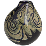James Lundberg/Steven Lundberg - Early Tulip Shaped Vase With Dramatic Coloring - C 1976