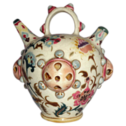 Rare and Special - 1870-1895 Zsolnay Hungary Pottery Water Jug or Incense Jar