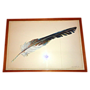 LARRY HAGMAN'S ESTATE:  One-Of-A-Kind Painted Feather Artwork By Kristina Hagman