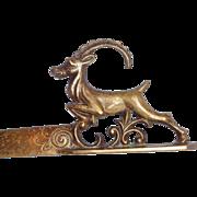 Art Deco Vienna Bronze Letter Opener With An Alpine Ibex