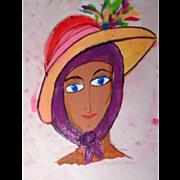 "PHYLLIS DILLER ESTATE - ""Bonnie"" -Original Oil On Canvas,  Signed"