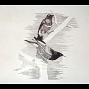 "Courtship"" - Original Drawing - Carlton (American 20th Century)"