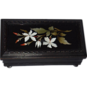 Antique Pietra Dura Dresser Box