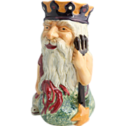 """Staffordshire Very Large Character Jug """"Father Neptune"""" Made By Shorter & Son, Stoke-On-Trent, England"""