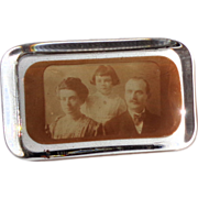 Antique Paperweight - Glass With Old Family Photo by Lewis P. Peters, Circa 1890s