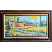 H. Woods (American - 20th Century) Signed Original Oil Painting