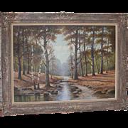 Albert Blaetter (German 1878 - 1935) Very Large Signed Original Antique Oil Painting