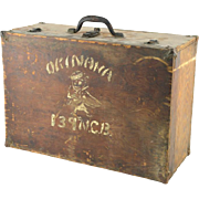 WW II Decorated Trunk With Original Artwork By A Soldier In Okinawa